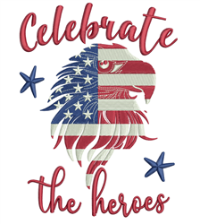 Celebrate Heroes embroidery design