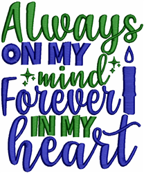 Forever In My Heart embroidery design