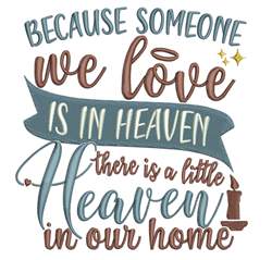 Heaven In Our Home embroidery design