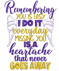 Remembering You embroidery design