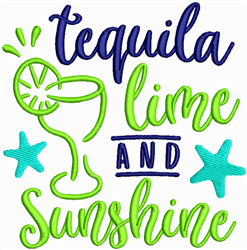 Tequila Lime Sunshine embroidery design
