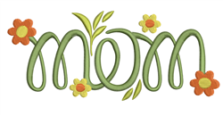 Mom Flowers embroidery design