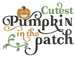 Cutest Pumpkin embroidery design