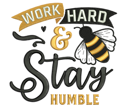 Stay Humble embroidery design