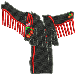 Spanish Costume embroidery design