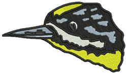 Meadowlark Head embroidery design