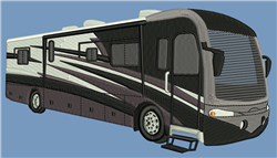 RV - Camping Vehicle embroidery design