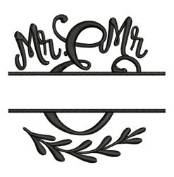 Mr & Mr Name Drop embroidery design