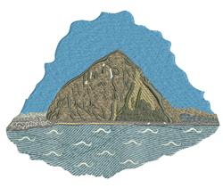 Island Mountain embroidery design