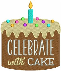 Celebrate With Cake embroidery design