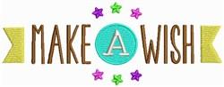 Make A Wish embroidery design