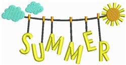 Summer Clothesline embroidery design