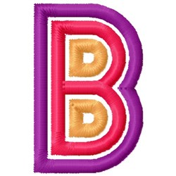 Retro Letter B embroidery design