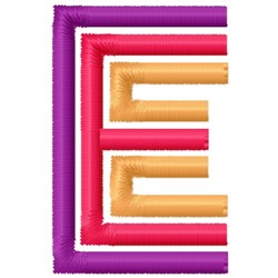 Retro Letter E embroidery design