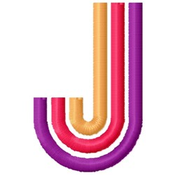 Retro Letter J embroidery design