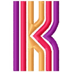Retro Letter K embroidery design