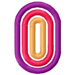 Retro Letter O embroidery design