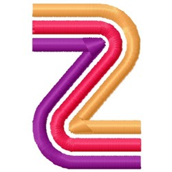 Retro Letter Z embroidery design