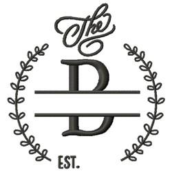 B Wedding Name Drop embroidery design