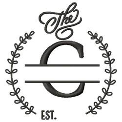C Wedding Name Drop embroidery design
