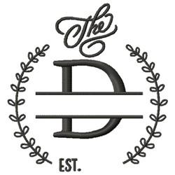 D Wedding Name Drop embroidery design