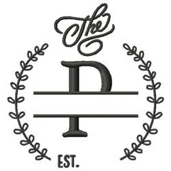 P Wedding Name Drop embroidery design