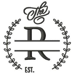 R Wedding Name Drop embroidery design