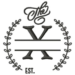 X Wedding Name Drop embroidery design