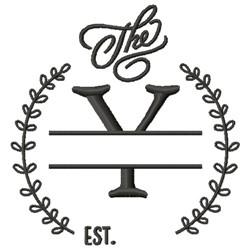 Y Wedding Name Drop embroidery design