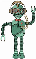 Kids Robot embroidery design