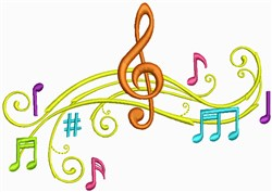 Musical Chord embroidery design