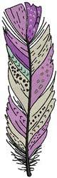 Purple Feather embroidery design
