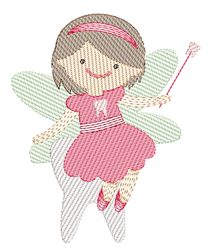 Rippled Tooth Fairy embroidery design