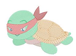Rippled Raphael Ninja Turtle embroidery design
