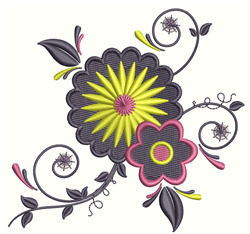 Floral Swirls embroidery design