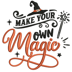 Make Your Own Magic embroidery design