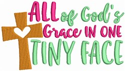 All of Gods Grace in Tiny Face embroidery design