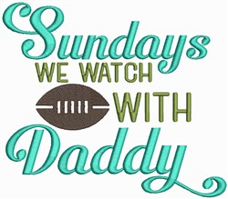 Sunday Football embroidery design