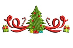 Christmas Tree with Presents embroidery design