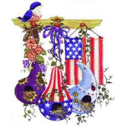 Americana embroidery design