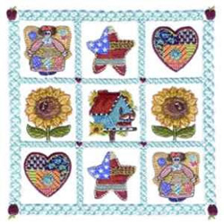 Americana Quilt embroidery design