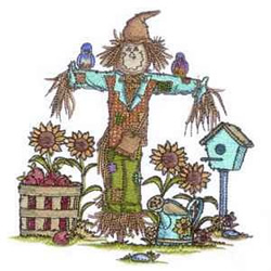 Scarecrow Scene embroidery design