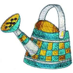 Country Watering Can embroidery design