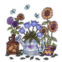 Country Wildflowers embroidery design