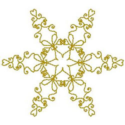 Snowflake Outline embroidery design