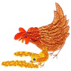 Chicken & Baby embroidery design