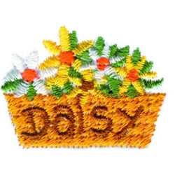 Daisy Basket embroidery design