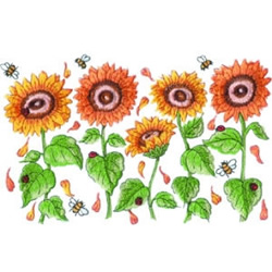 Sunflowers & Bees embroidery design