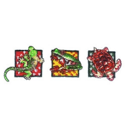 Lizard Frog & Turtle embroidery design