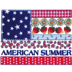American Summer embroidery design